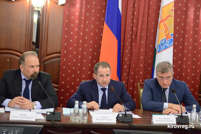 Михаил Мень и Михаил Бабич обсудили сферу строительства в Кировской области
