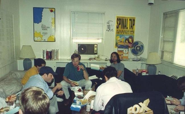 Создатели «Симпсонов» за работой, 1992 год.
