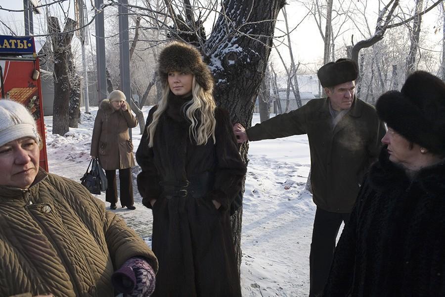 4. Инесса Юринская в замерзшем пригороде Красноярска, где она живет. Инесса работает на агентство Ul
