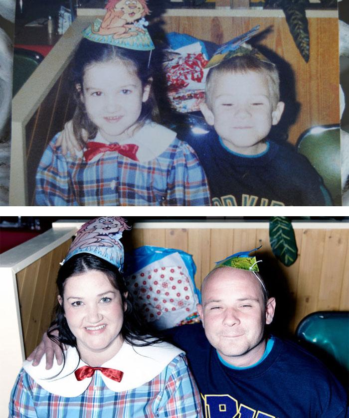 Обри и Майк родились в 1989 году с разницей в 11 дней. В 2012 году они начали встречаться, а три