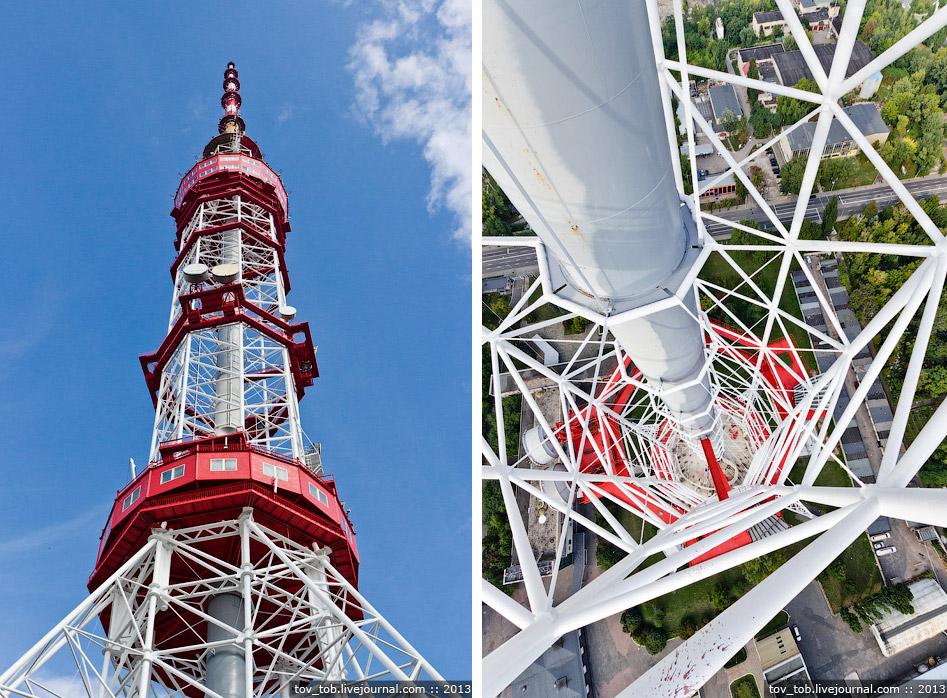 На отметке 75 м находится вход в нижнее техническое строение башни.