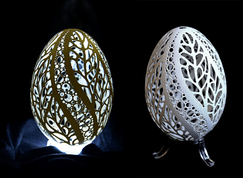 Artist Piotr Bockenheim Puts Your Easter Egg Decorating to Shame with His Intricately Carved Goose Shells