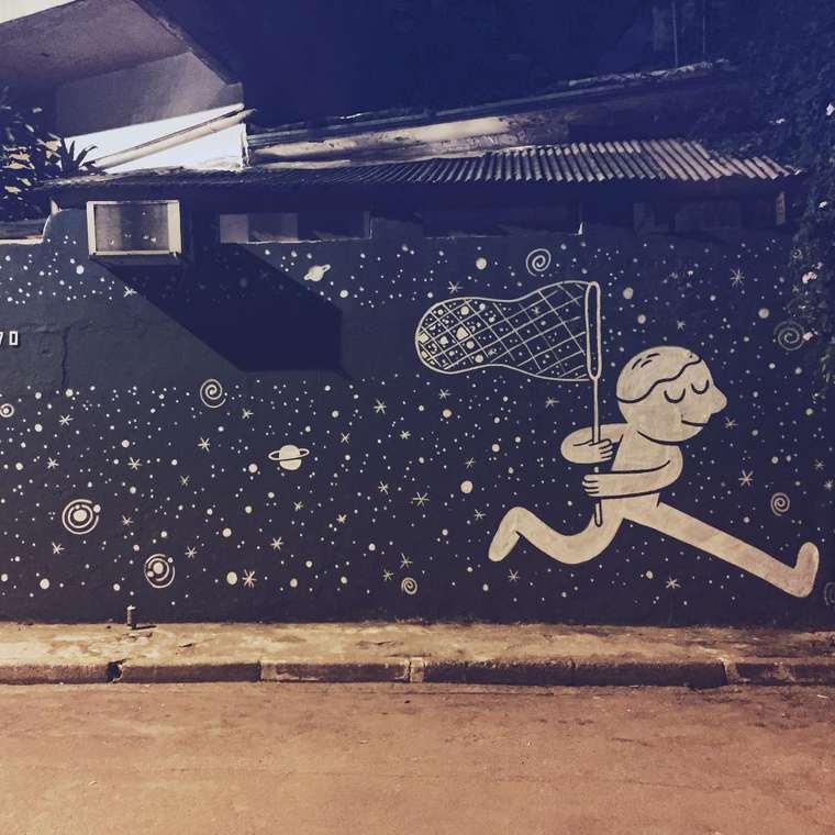 Street Art et Illustration - Les adorables creations en noir et blanc de Muretz