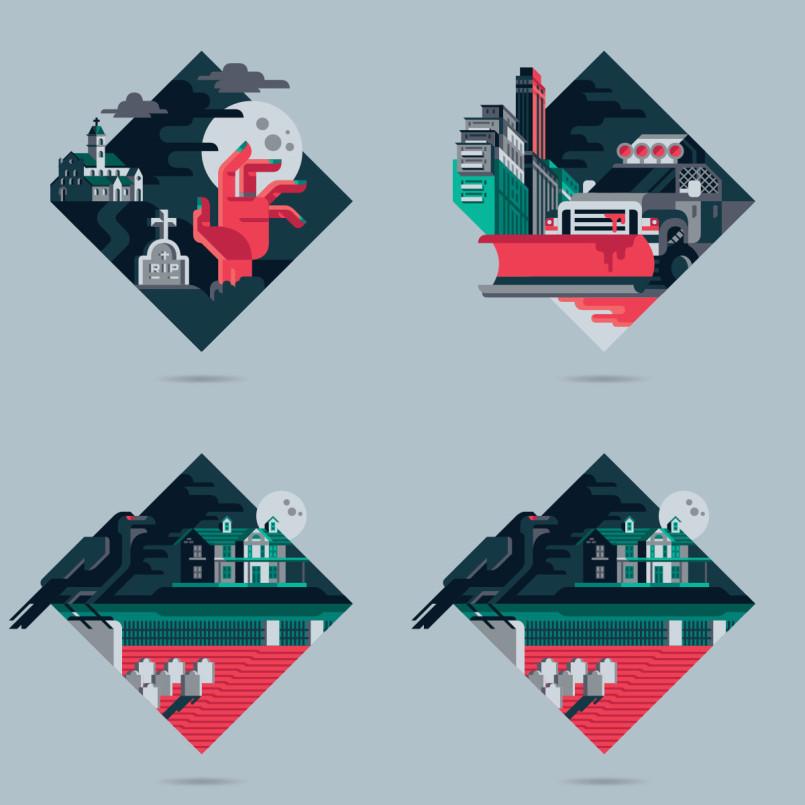 Geometric Illustrations by Davide Mazzuchin