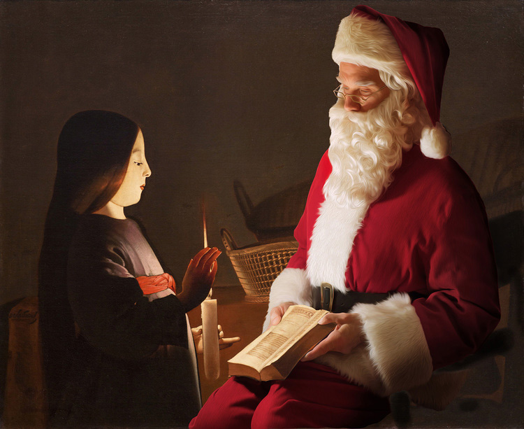 Santa Classics: Digital Artworks by Ed Wheeler