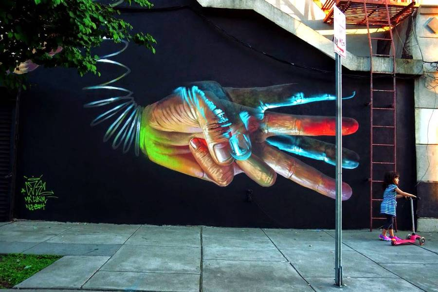 Beautiful Murals in Jersey City by Case Ma'Claim