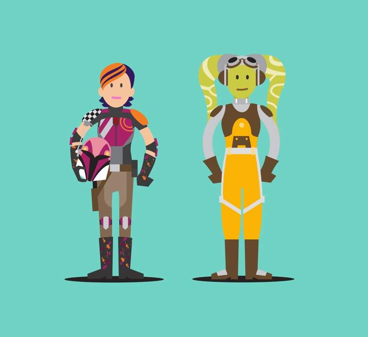 Hall of Heroes - 63 nouveaux personnages feminins cultes reunis en un poster