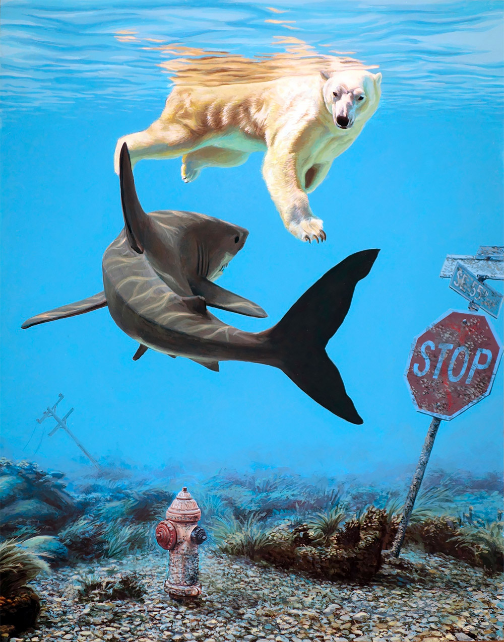 Thought-Provoking Paintings by Josh Keyes