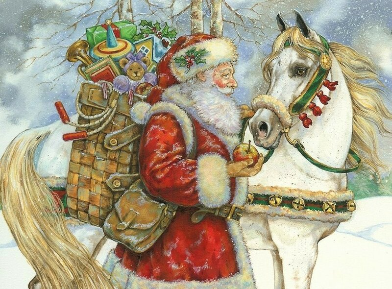 Открытки с новым годом лошадью, лет бабушке