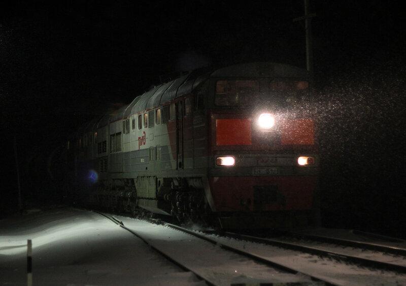 2ТЭ116 на станции Зубцов двигается на Ржев