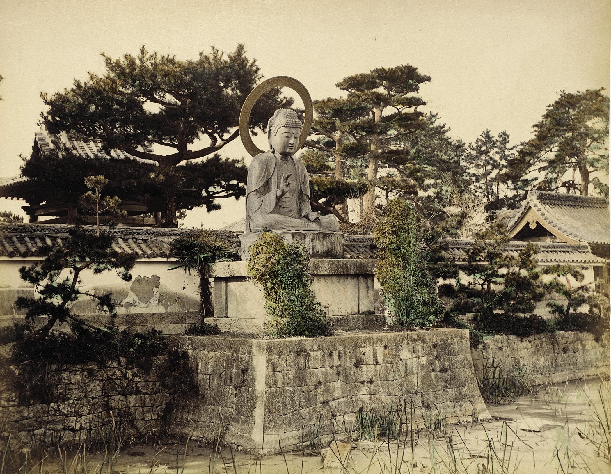 Нагоя. Буддийский храм Синкодзи. 1865