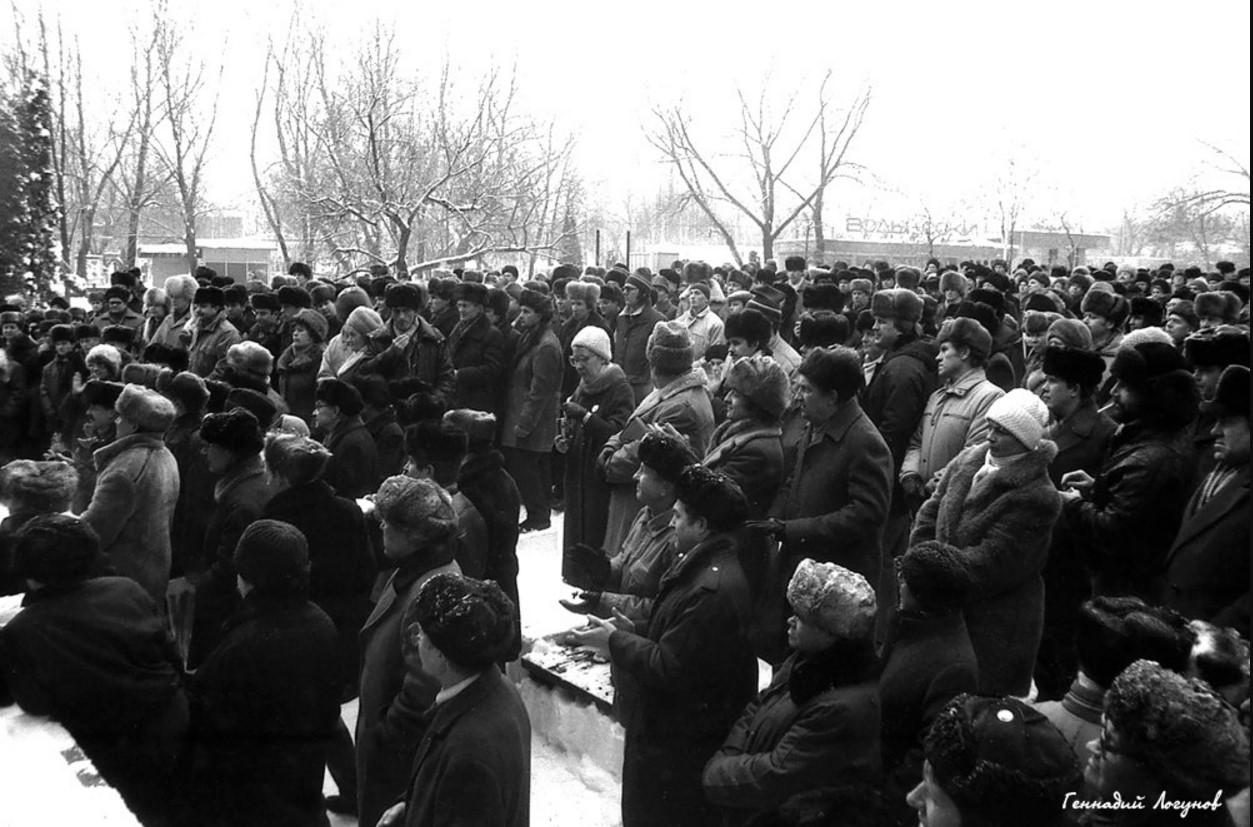 Тысячи горожан пришли на митинг