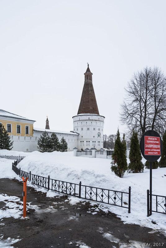Воскресенская башня (1677-1688 гг.). Иосифо-Волоцкий монастырь.