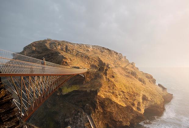 Замку Тинтагель построят подвесной мост