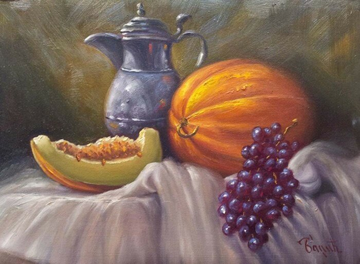 Натюрморт с виноградом. Badzic_Miomir
