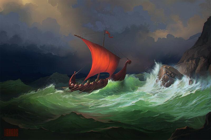 Артём Чебоха (RHADS). Boat in a Storm