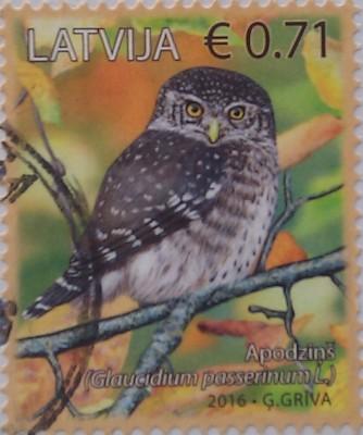 латвия 2016 сова 0,71