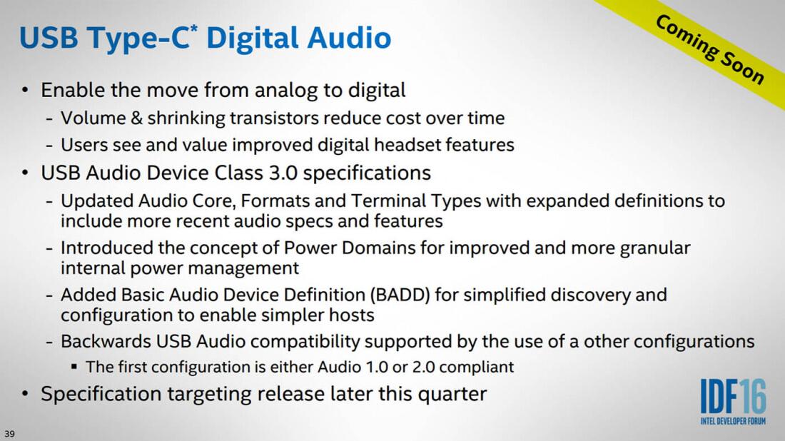 Intel называет USB-C правильным разъемом для вывода звука