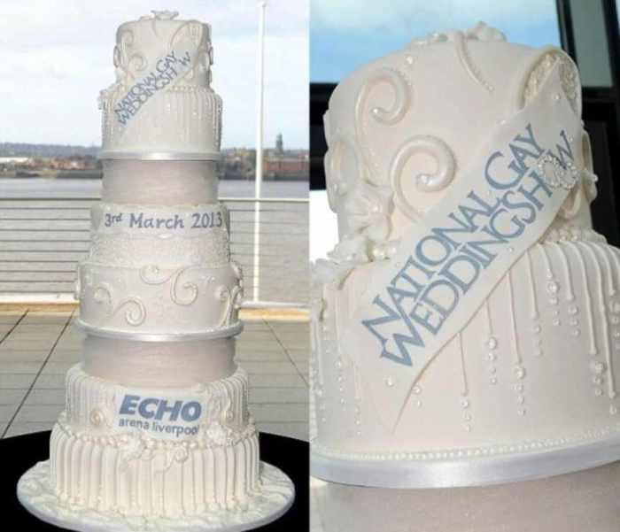 Торт для Национального свадебного шоу геев.   Не прошло и года, как мировой рекорд шеф-повар