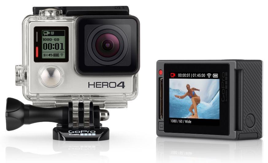 GoPro Hero 4 Silver  Линейка Hero 4 представлена модификациями Black, Silver и Session. Камера