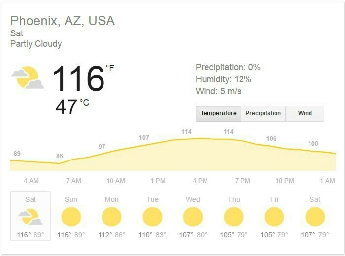Лето просто ушло в Аризону...
