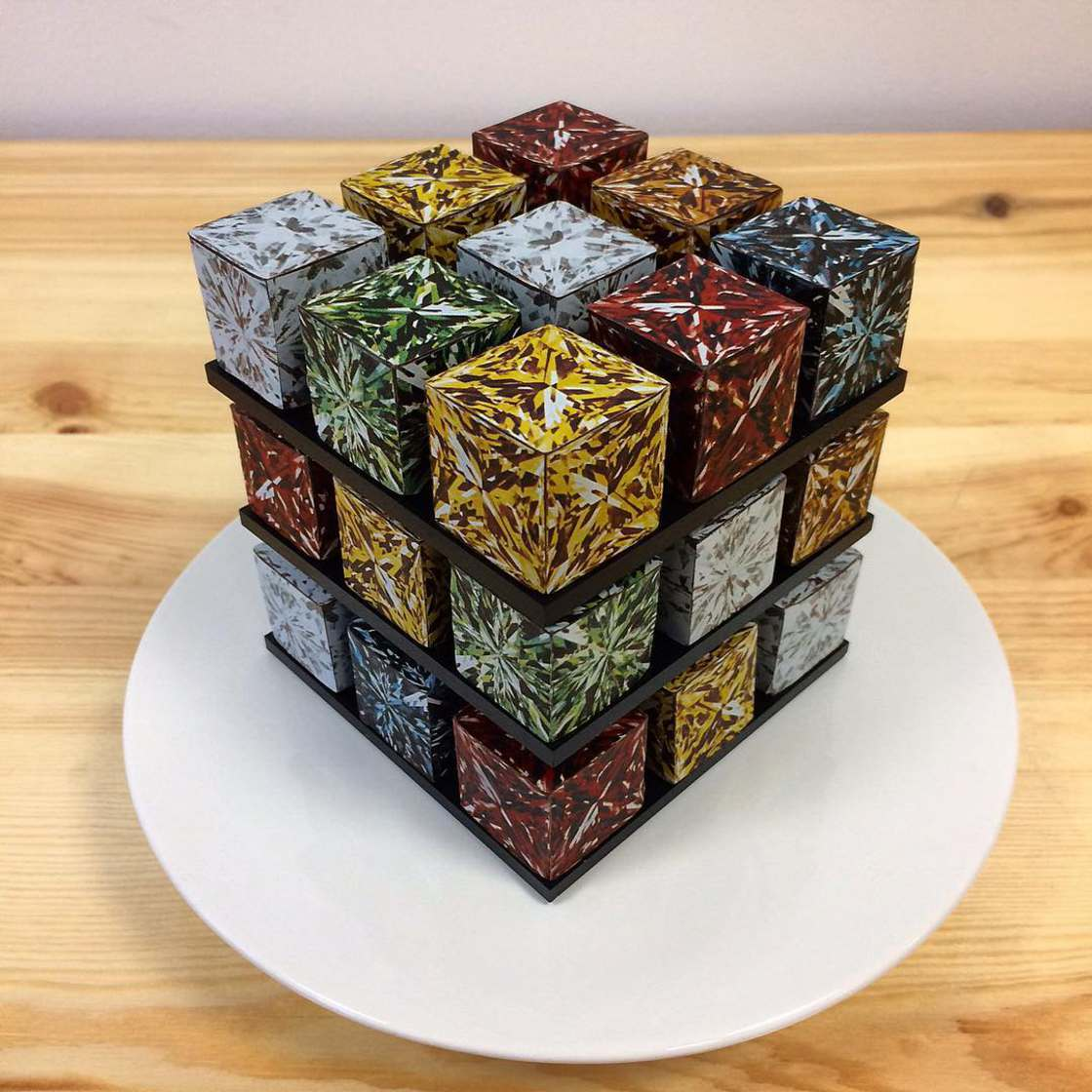 Rubik's Cake - An incredibly appetizing geometric pastry!