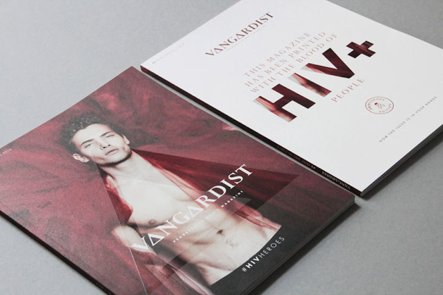A Magazine Cover Printed with HIV Positive Infused Ink (10 pics)