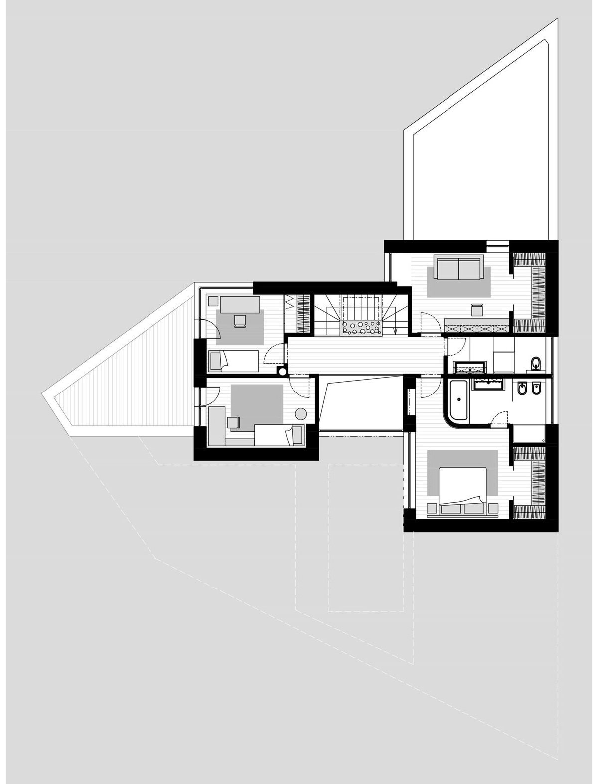 at26 architecture & design, White Cubes House, угловой дом фото, белые частные дома фото, обзор частного дома фото, планировка частного дома фото