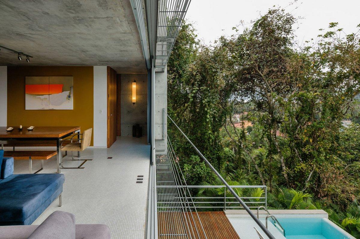 сдвижные стеклянные панели в частном доме