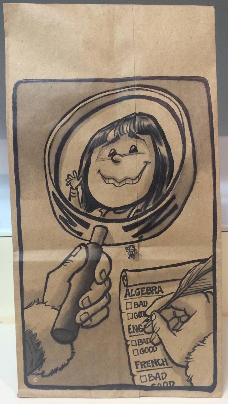 Lunch Bag Art - Un papa creatif dessine chaque jour pour le repas de sa fille