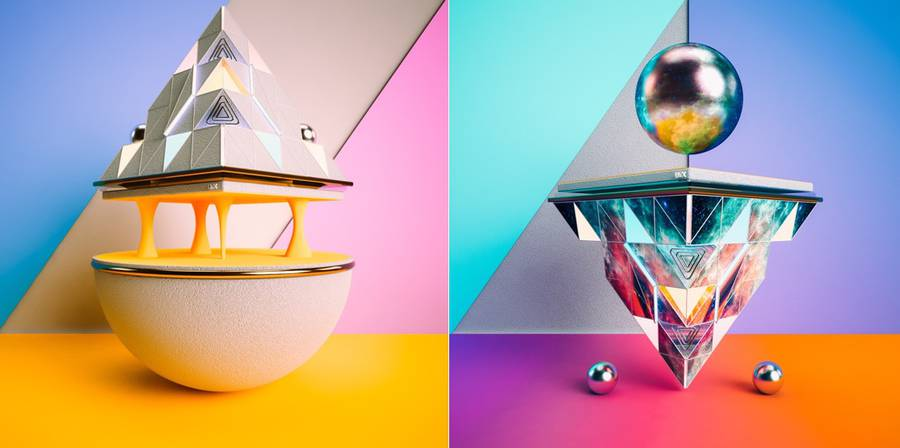 Aesthetic Colorful & Geometric 3D Structures (5 pics)
