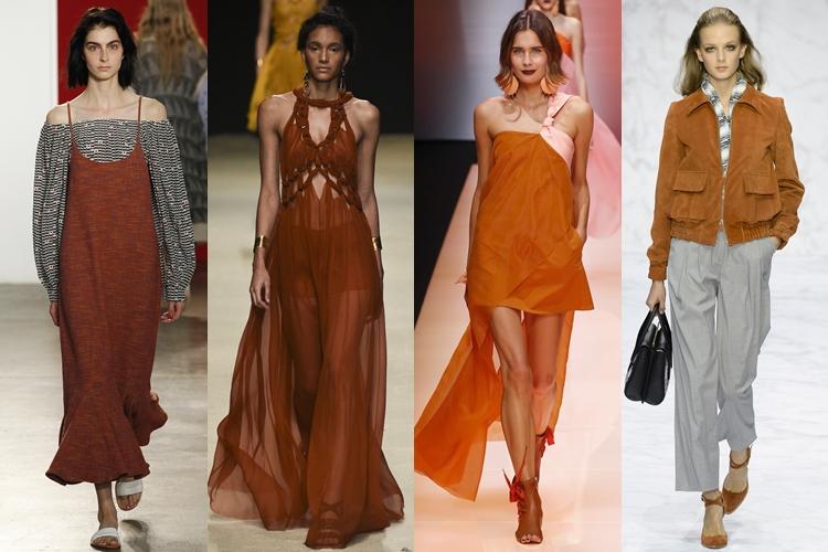модные цвета весна-лето 2016 - темно-оранжевый