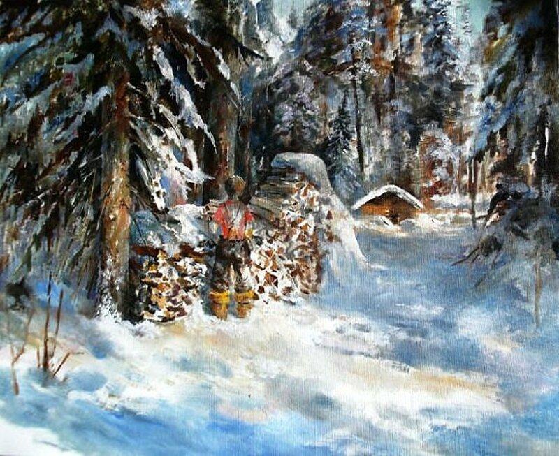 ЗИМОВЬЕ. Х.М.. Картина В. Березина, сибирского художника.jpg