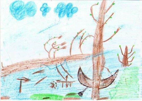 Весна пришла - Балдин Станислав Александрович, 7 лет, Тема -- Рисунок, п. Садовый (Новосибирский р-н).jpg