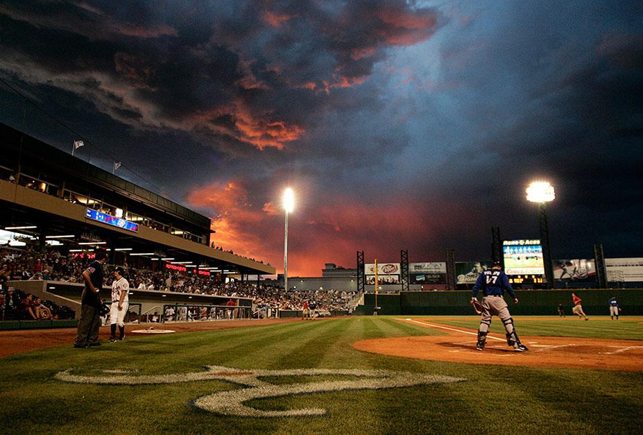 красивые закаты на бейсбольных стадионах / baseball park sunset - las vegas