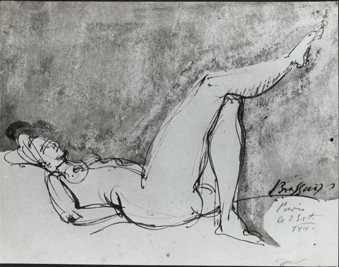1941. Рисунок обнаженной женщины, сентябрь