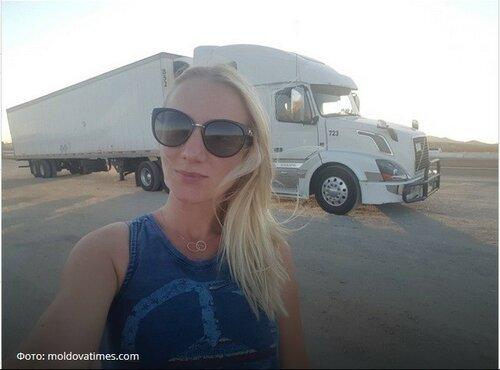 Молдаванка уехала в США, чтобы работать дальнобойщиком