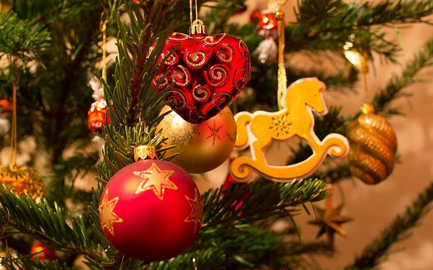 Новый год, новогодняя ёлка, игрушки, подарки