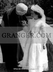 First communion of princess Marie Esmeralda of Belgium daughter Leopold III of Belgium and Liliane of Rethy