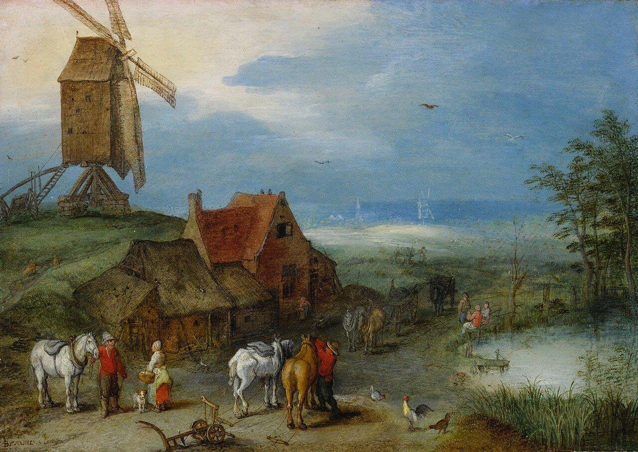 Jan_brueghel_il_vecchio_(attr.),_paesaggio_con_un_mulino,_figure_e_cavalli_presso_una_fattoria,_1606.jpg