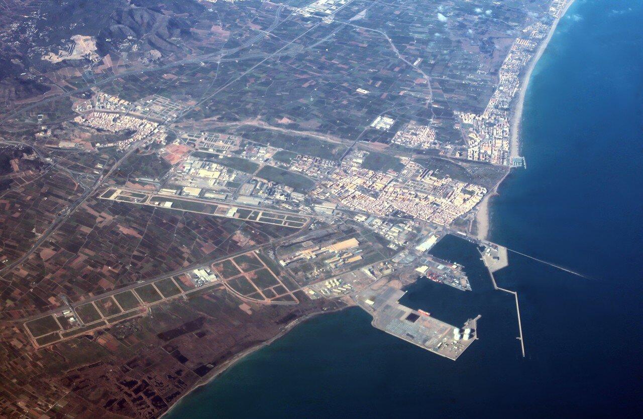 Port de Saguntum, view from an airplane
