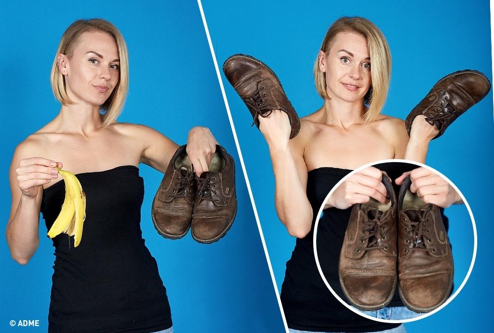 Единственное, что делает банановая кожура,— временно придает блеск потрескавшейся обуви, нопри выс