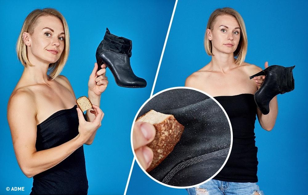 Эти странные манипуляции только еще больше портят обувь.  Царапины наобуви исчезают, если нанест