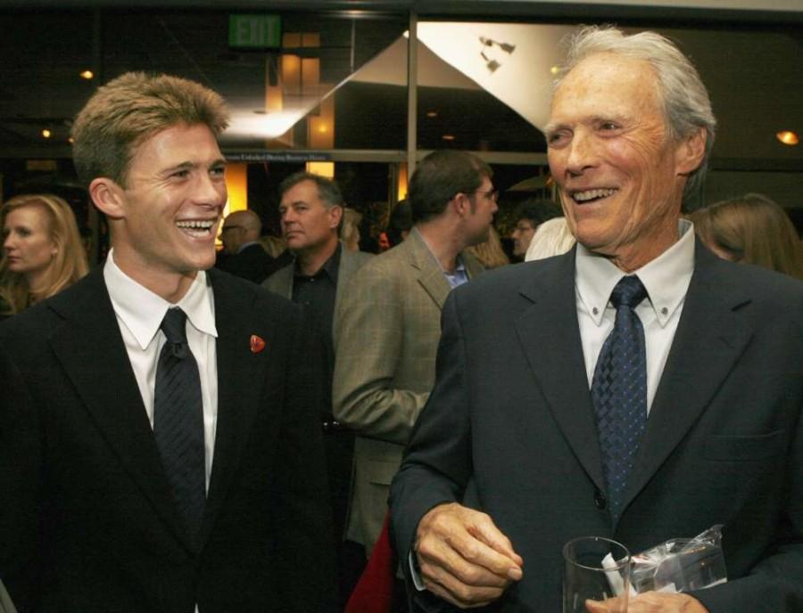 34. Клинт Иствуд и его сын, Скотт.