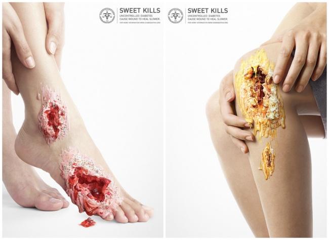 © designindaba  © The Diabetes Association of Thailand   Наглядный концепт рекламы пр