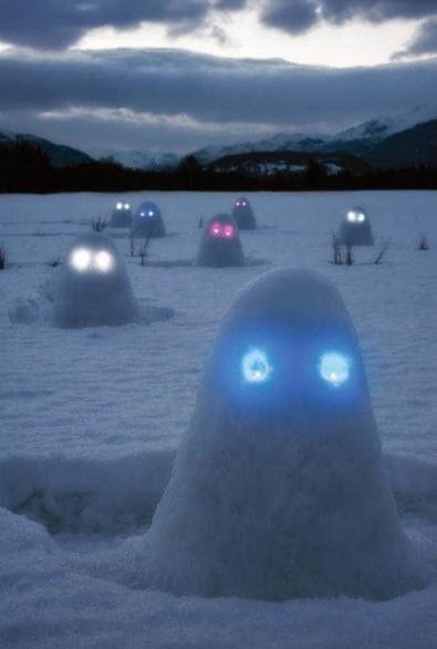 Во вселенной существуют и другие снеговиковые расы. И иногда они прилетают на Землю.