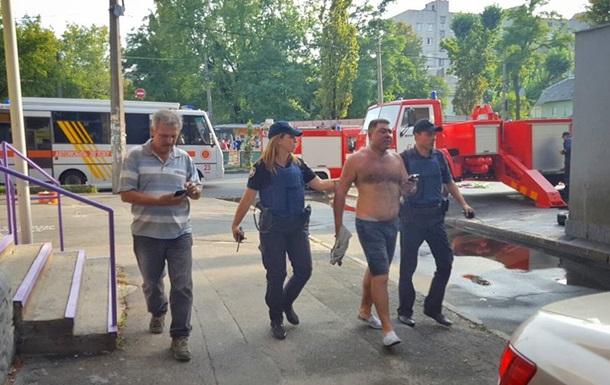 Вделе оподжоге здания канала «Интер» задержанных нет