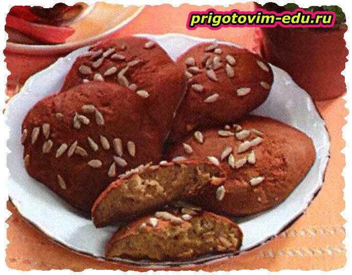Печенье с апельсинами и семечками