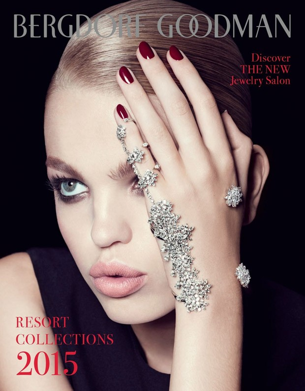 The always stunning top model Daphne Groeneveld takes the cover story of Bergdorf Goodman Magazine &