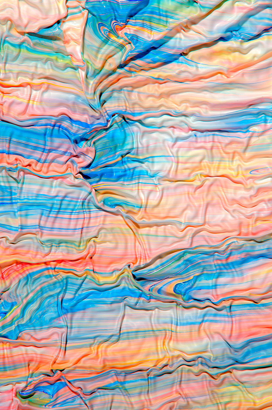 Swirling Photographs of Mixed Paint by Mark Lovejoy